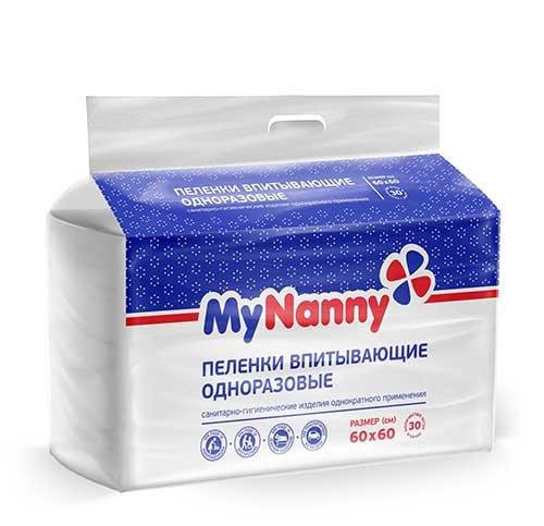 Пеленки впитывающие Medmil MyNanny 30 шт. 60x60