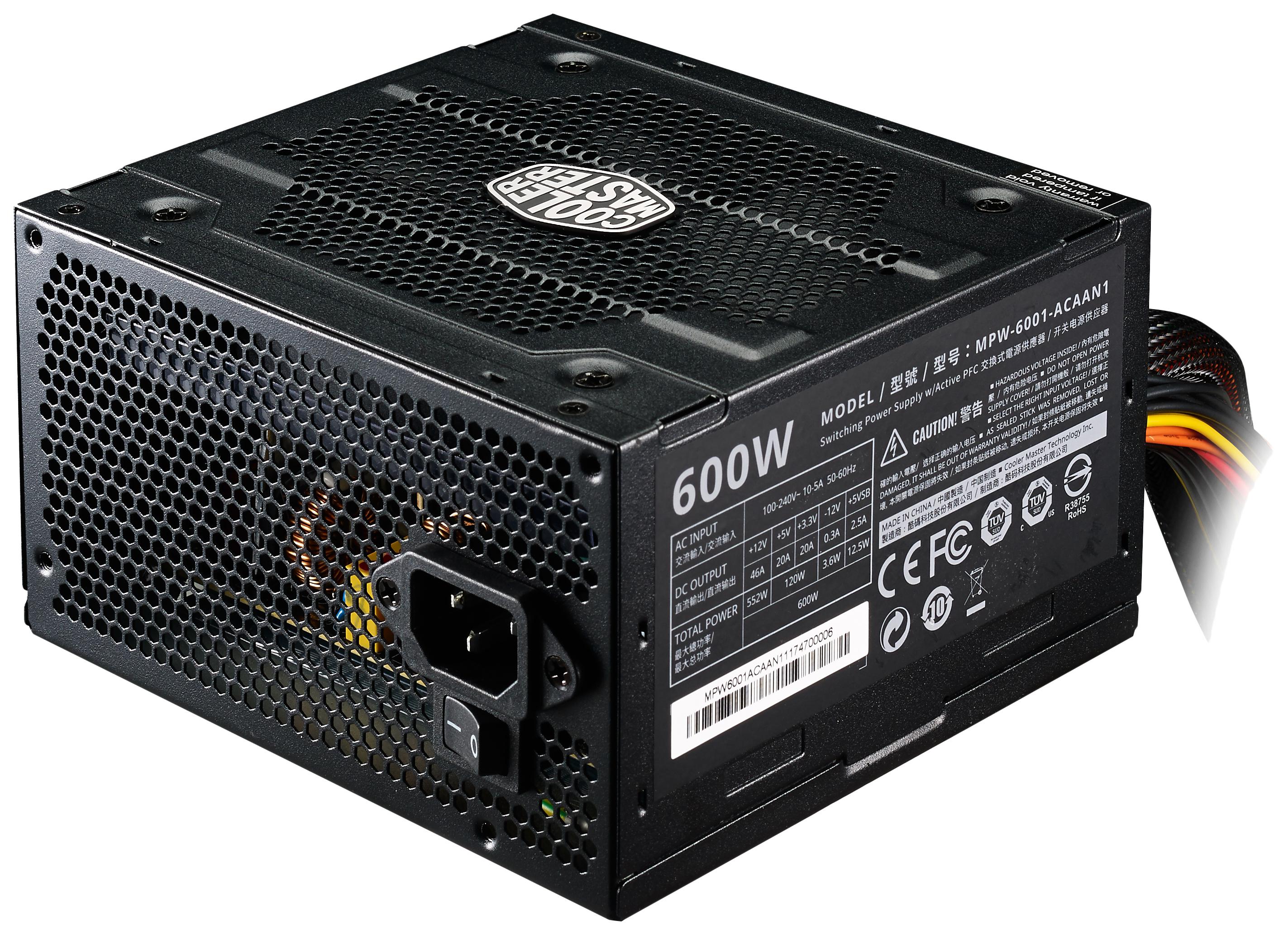 Блок питания компьютера Cooler Master Elite V3 MPW-6001-ACABN1-EU