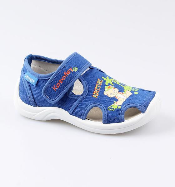 Купить Сандалии Котофей для мальчика р.25 221047-12 синий, Детские сандалии