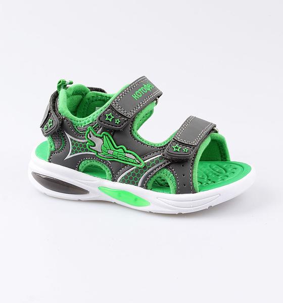 Купить Пляжная обувь Котофей для мальчика р.26 324023-11 серый, Шлепанцы и сланцы детские