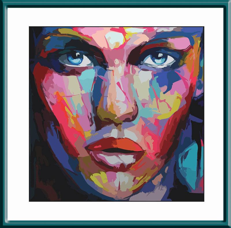 Абстрактный портрет женский - картина по номерам