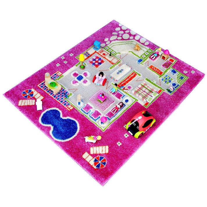 Детский игровой 3D-ковер Домик, розовый, 80 х 100 см