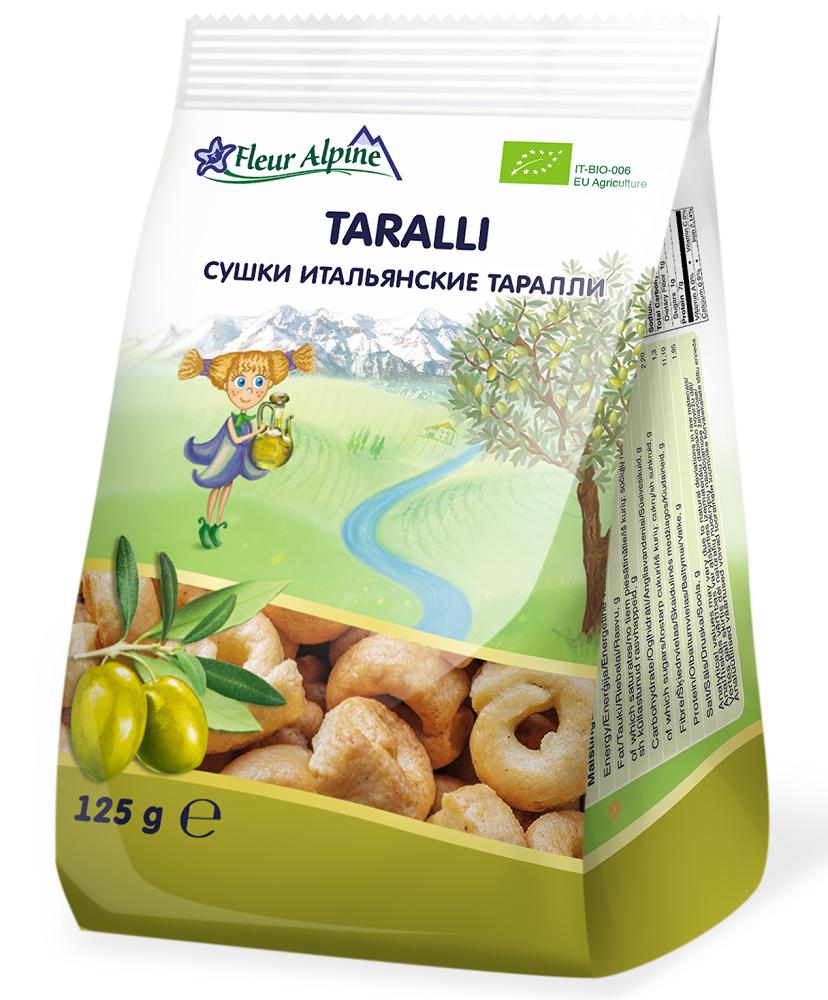 Сушки итальянские Fleur Alpine Органик Таралли
