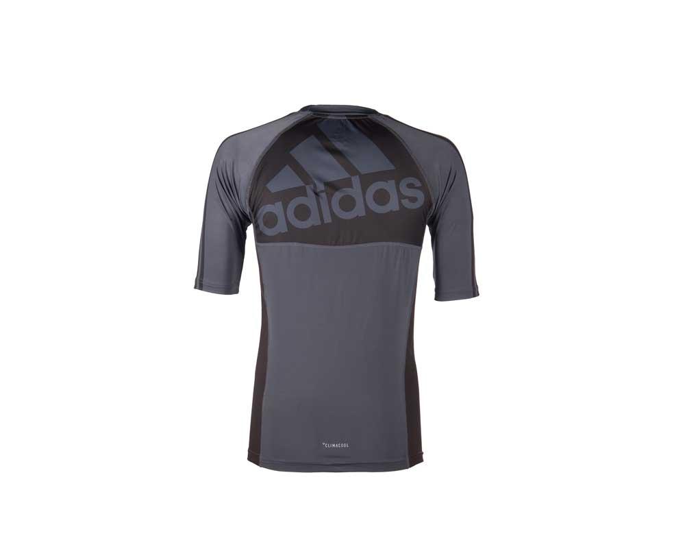 Рашгард Adidas Grappling Rashguard Short Sleeve черно-красная L