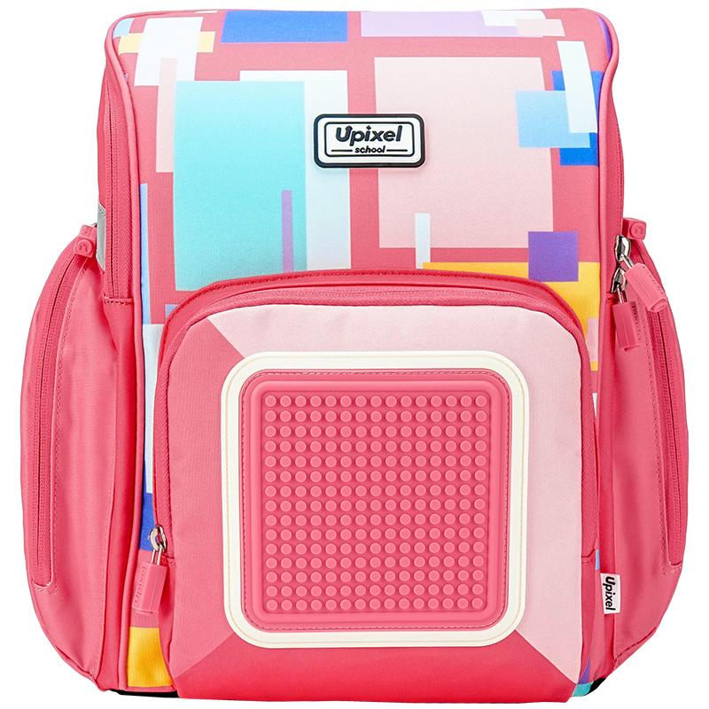 Купить Рюкзак детский Upixel пиксельный Funny Square School Bag WY-U18-7, Школьные рюкзаки для девочек