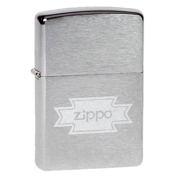 Зажигалка Zippo №200 Zippo Brushed Chrome фото