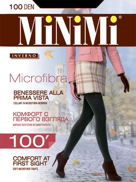 Колготки MiNiMi MICROFIBRA 100, nero, 2/S фото