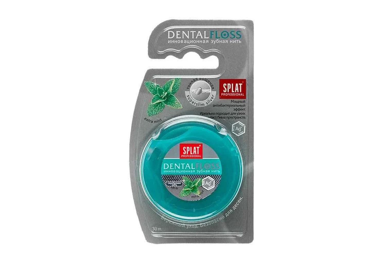 Зубная нить Splat с волокнами серебра 30 м