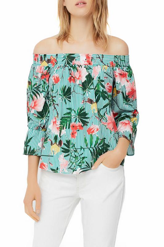 Блуза женская MANGO зеленая S