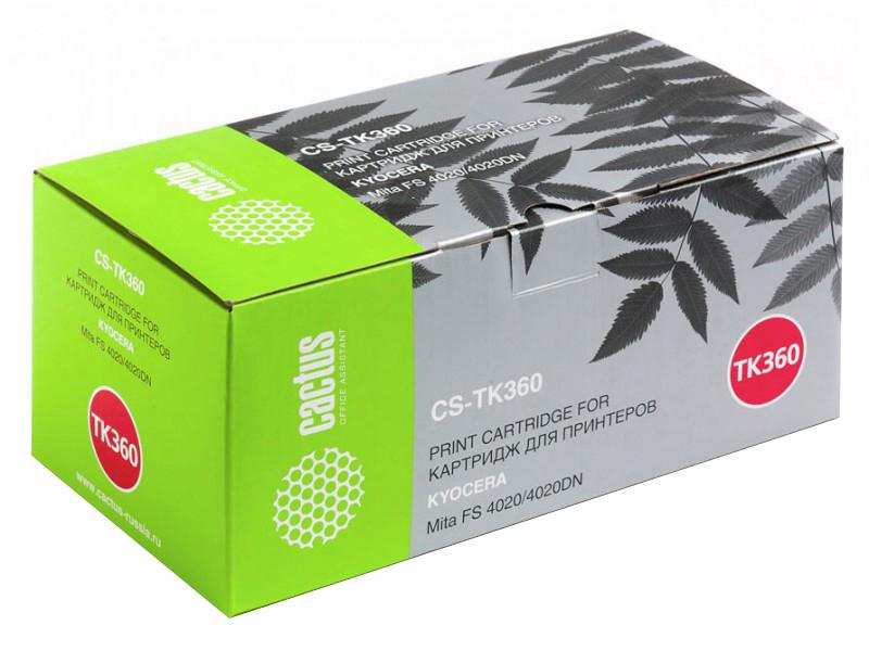 Картридж для лазерного принтера Cactus CS-TK360 черный