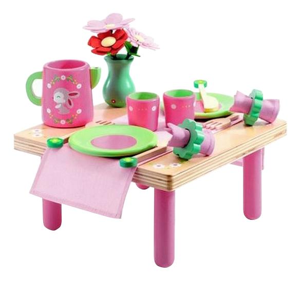 Купить Сюжетно-ролевая игра Djeco Набор для ланча Лили Роз, Детская кухня