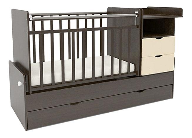 Кровать-трансформер Sweet Baby Valentino Wenge Avorio фото