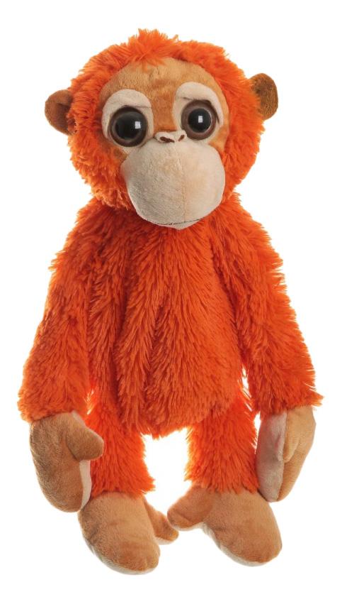 Мягкая игрушка Snowmen Мягкая Сумочка Snowmen Обезьянка, Оранжевая, 43 см