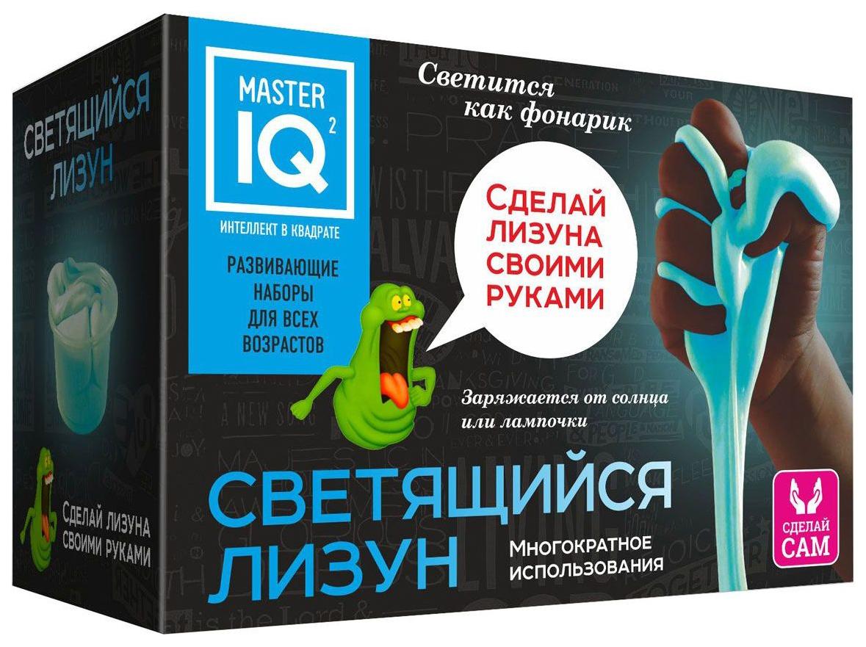 Купить Игровой набор КАРРАС Master IQ Сделай сам . Светящийся Лизун, Каррас, Наборы для создания слаймов