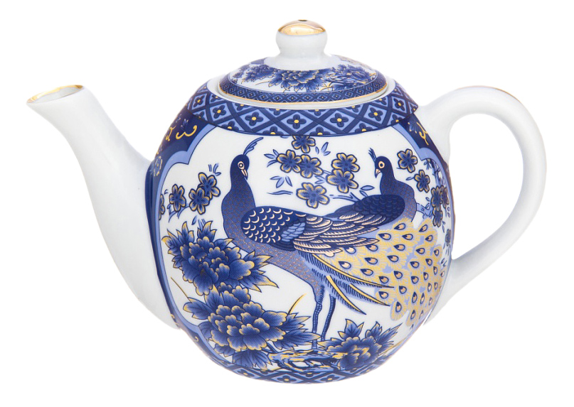 Заварочный чайник Elan Gallery Павлин синий