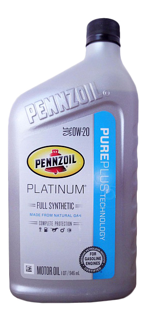 Моторное масло Pennzoil Platinum Full Synthetic Motor Oil SAE 5W-20 0,946л