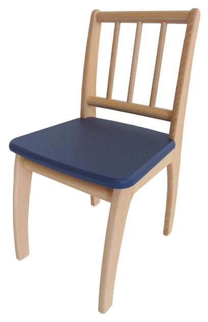 Купить Стул детский игровой Geuther Bambino Натуральный/Синий, Детские стульчики