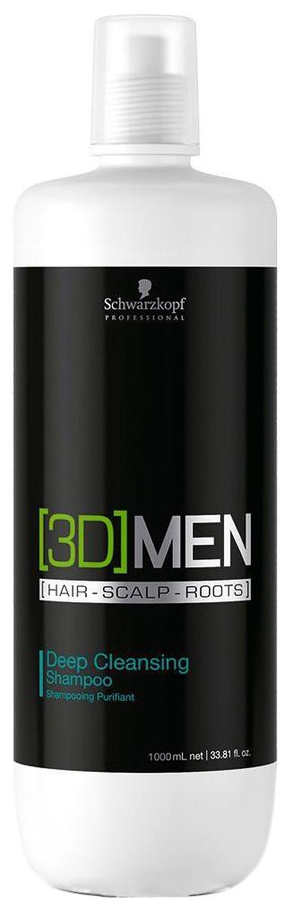 Шампунь для волос Schwarzkopf Professional [3D]Men Deep Cleansing Shampoo 1000 мл фото