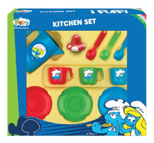 Набор посуды игрушечный Faro Smurfs