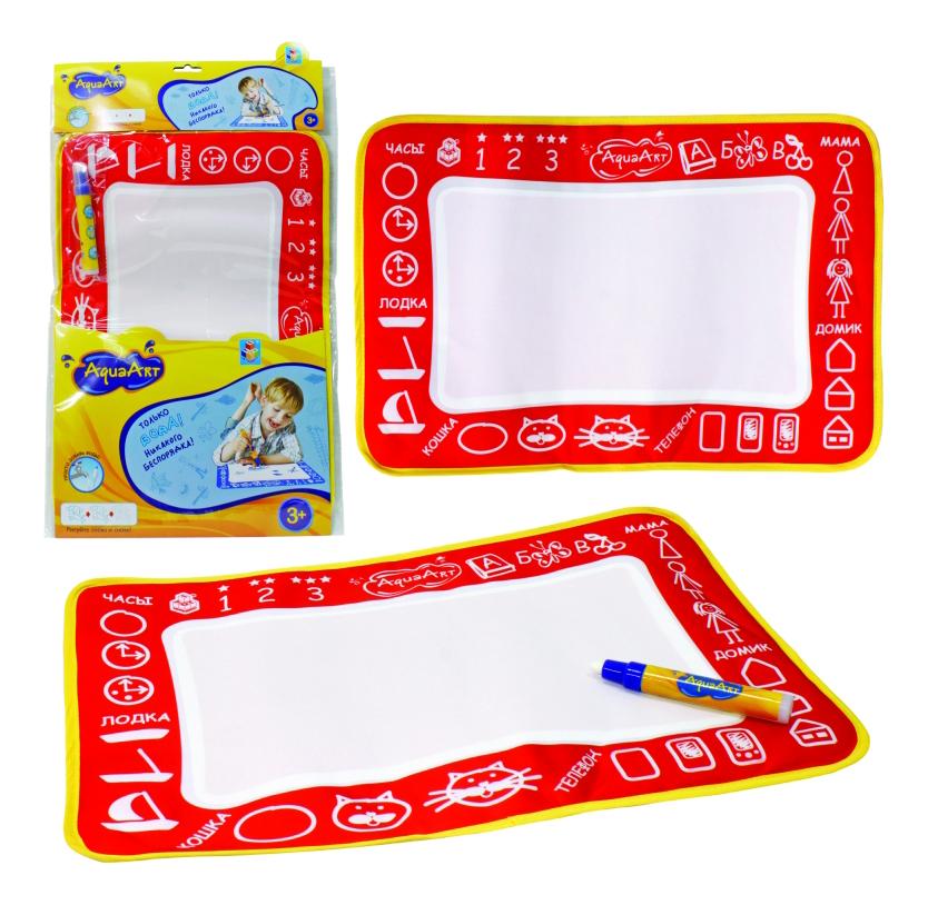 Игровой коврик для рисования 1 TOY AquaArt красный