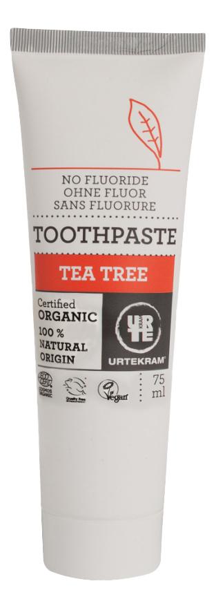 Купить Детская зубная паста Urtekram Чайное дерево 75 мл, Детские зубные пасты