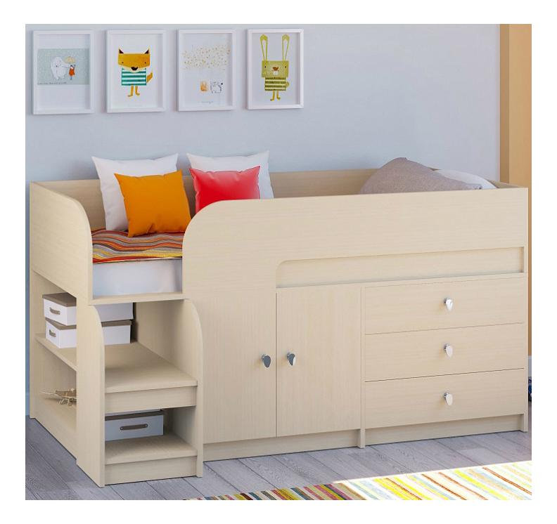 Кровать РВ-Мебель Астра 9/1 молочный дуб фото