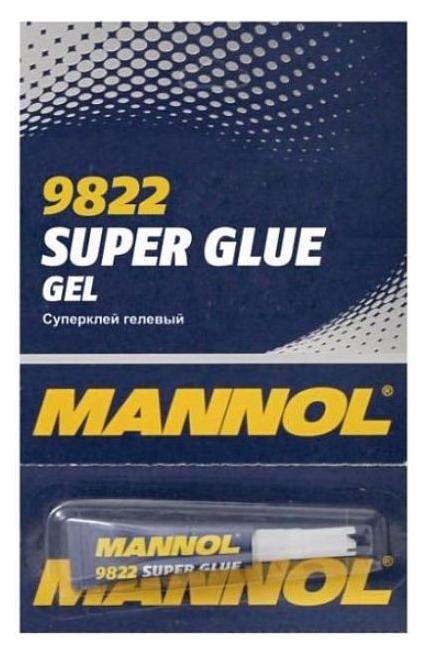 Клей MANNOL 9822 Gel Super Glue 0,01 литра