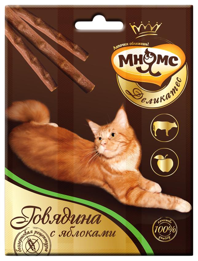 Лакомство для кошек Мнямс Деликатес, говядина, яблоко, 1шт, 0,012кг