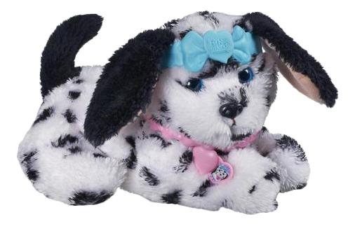 Купить Пятнистый щенок, Мягкая игрушка Hasbro Зверята FurReal Friends A4962 Чёрно-белый щенок в ошейнике, Интерактивные животные