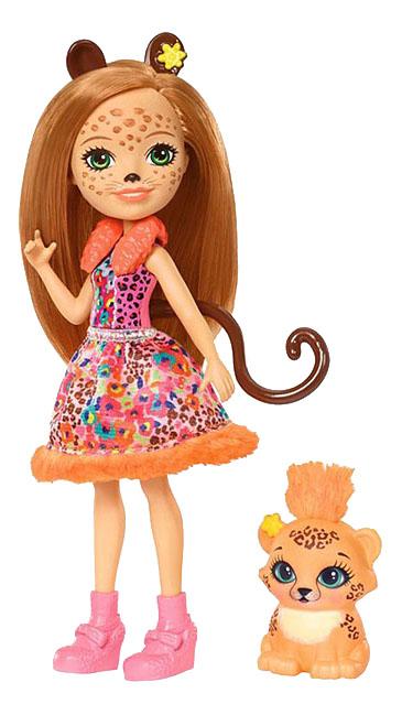 Кукла Enchantimals с любимой зверюшкой Чериш Гепарди фото