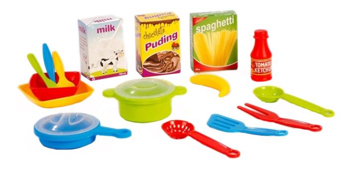 Купить Кухонный с закрытой тележкой, Кухонный набор Dolu с закрытой тележкой DL_4108, Игрушечная посуда