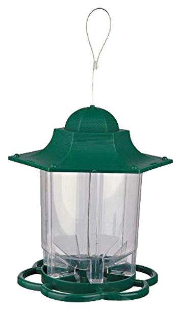 Уличная кормушка для птиц TRIXIE, пластик, 1400 мл, зеленый