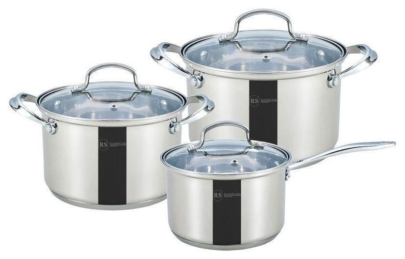 Набор посуды Rainstahl RS-1616-06 Серебристый