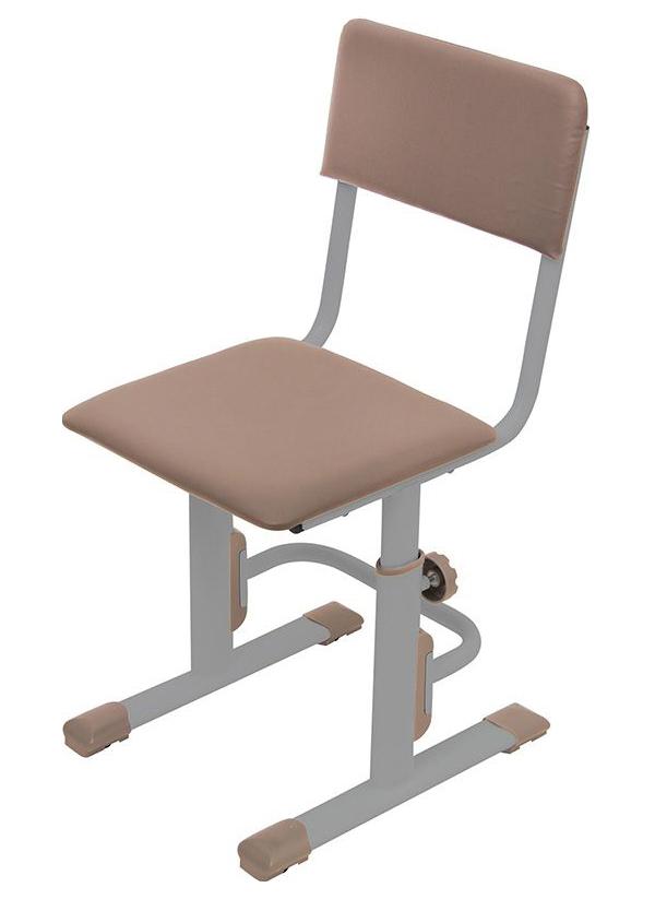Детский стул для школьника регулируемый Polini kids City/Polini Kids Smart S, Серый/Макиат