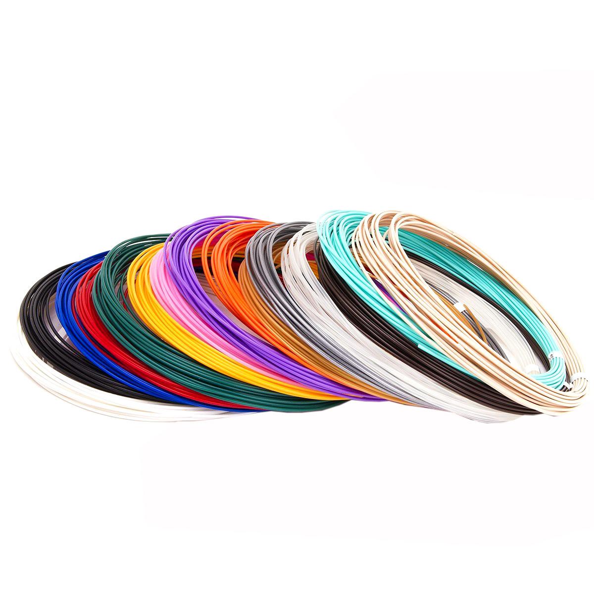 Купить Набор пластика для 3D ручек Unid PLA-15, 10 м, 15 цветов,