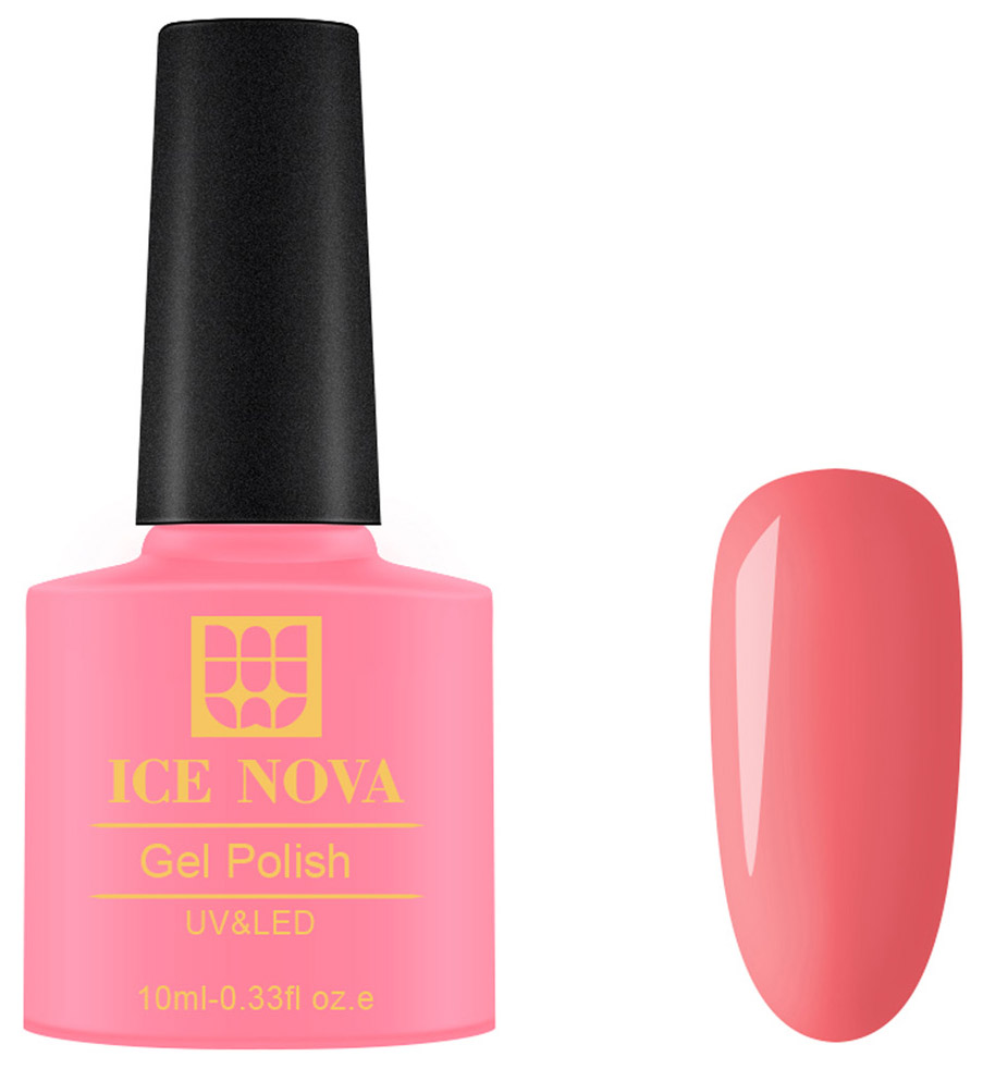 Купить Гель-лак для ногтей Ice Nova Gel Polish UV-LED 024 коралловый 10 мл