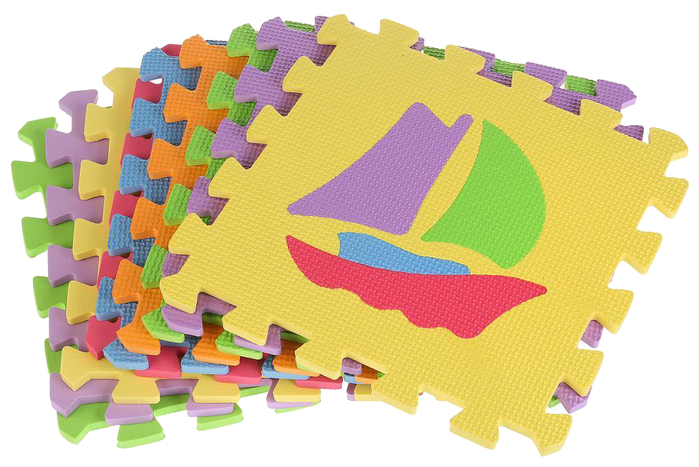 Купить Играем вместе Коврик пазл с машинками 10 сегментов Играем вместе B25274T-CRT, Играем Вместе, Развивающие коврики и центры
