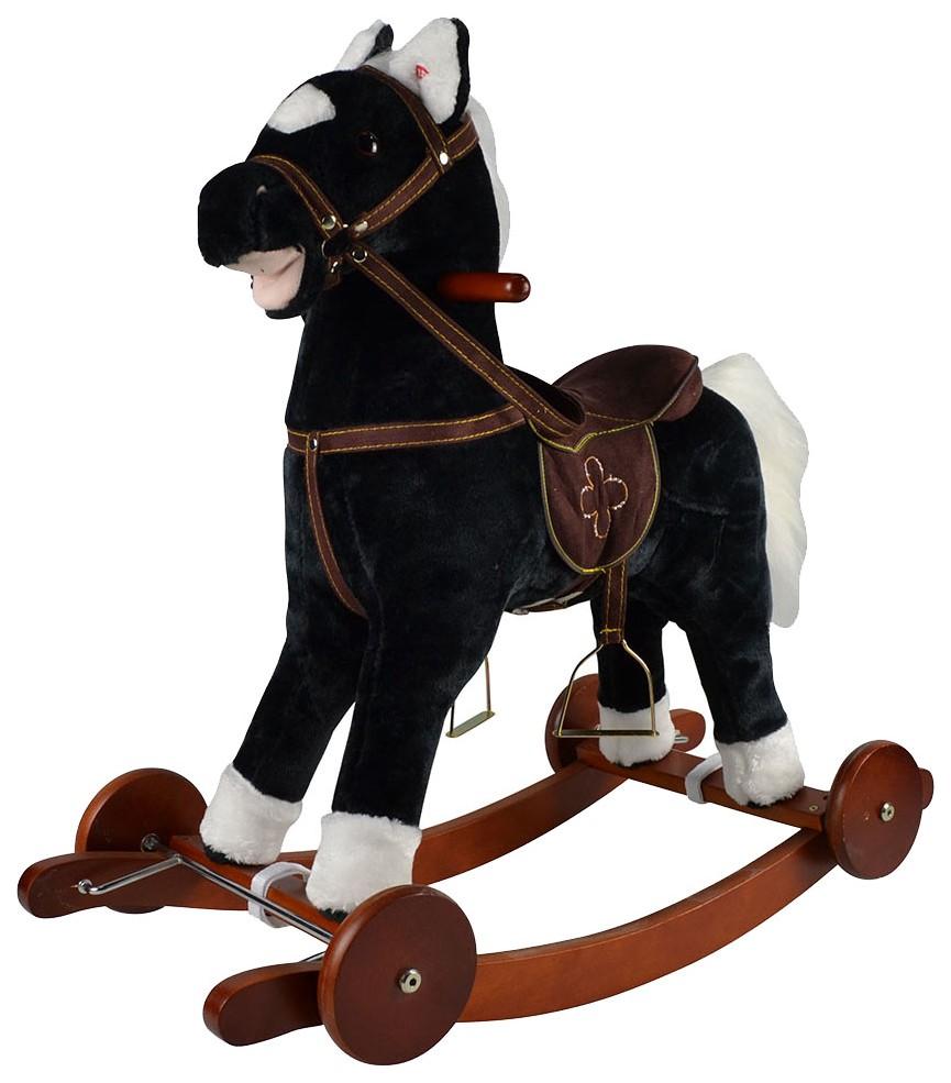 Купить Качалка-лошадка Pituso , черный, Качалки детские