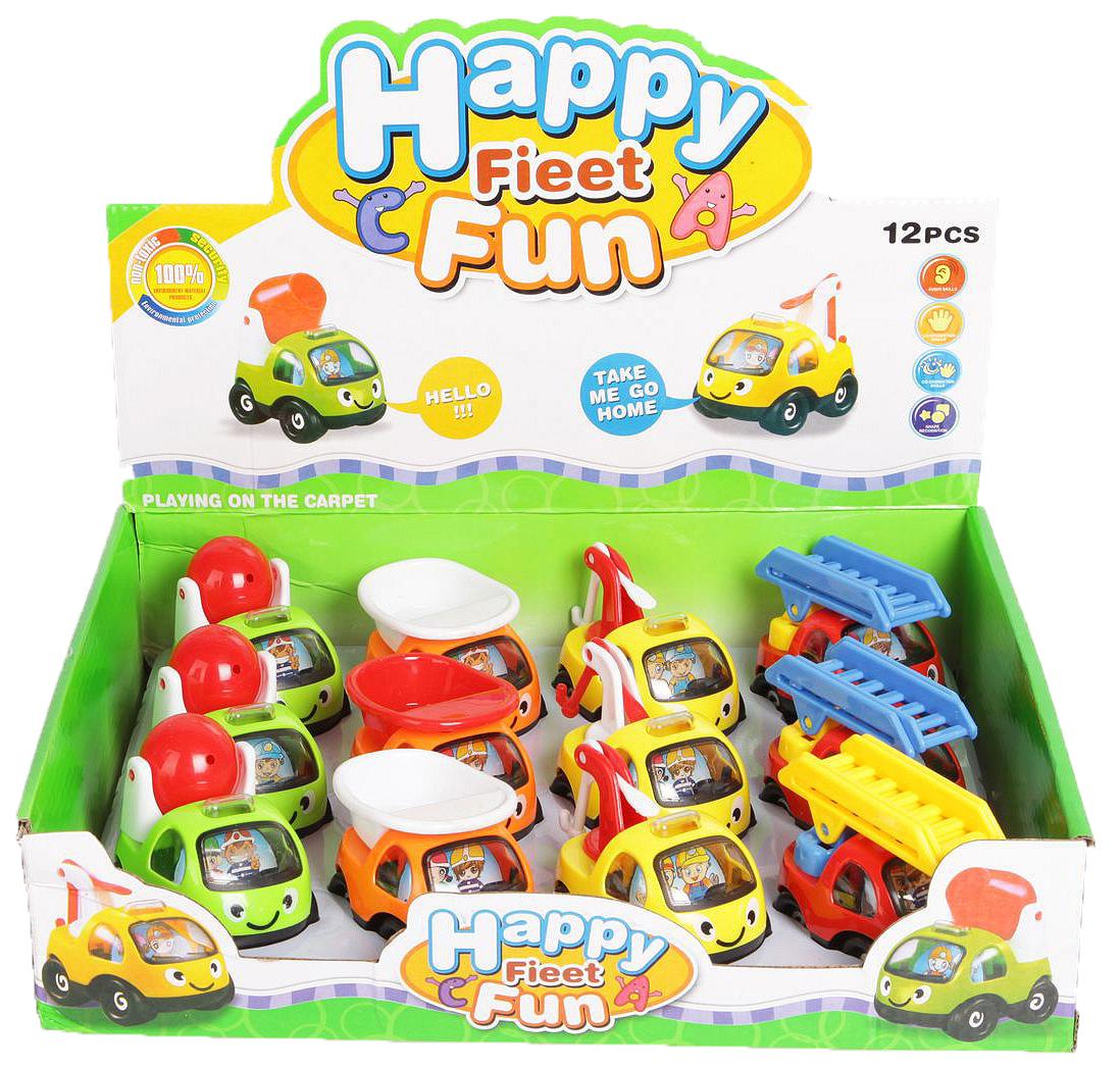 Купить Набор из 12 машинок Shenzhen toys Happy Fieet Fun В56419, Игрушечные машинки