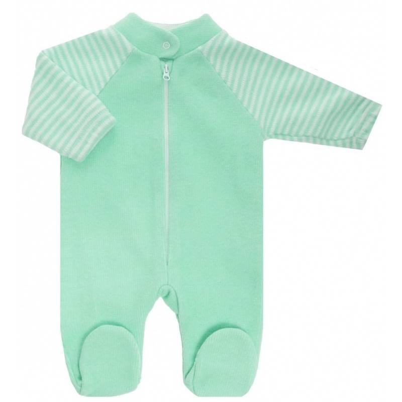 Купить 4-14 ЗЕЛЕНЫЙ, Комбинезон Lucky Child, цв. зеленый, 68 р-р, Трикотажные комбинезоны для новорожденных
