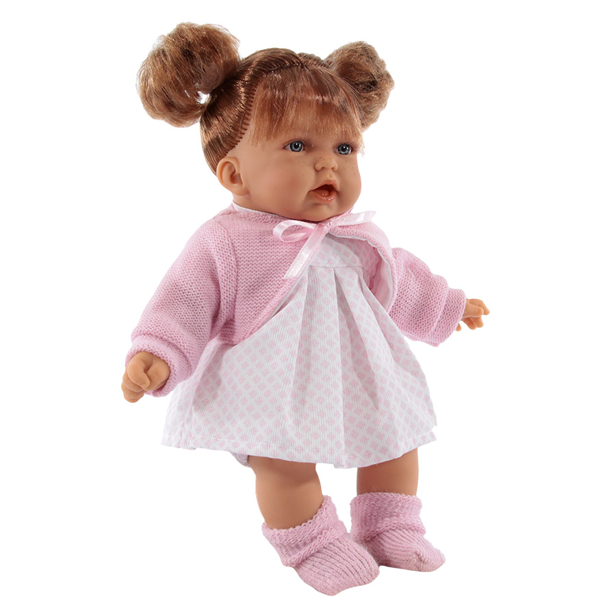 Кукла Antonio Juan Дели в розовом со звуком 27 см