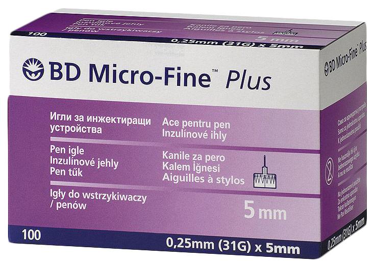 Иглы BD Micro Fine Plus для шприц