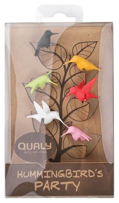 Набор маркеров для бокалов Qualy Humming Bird 6 шт