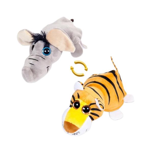 Купить Слон/Тигр 16 см. Игрушка мягкая серии Перевертыши , ABtoys, Мягкие игрушки животные