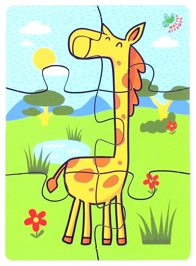 Пазл 6 элементов «Жираф»