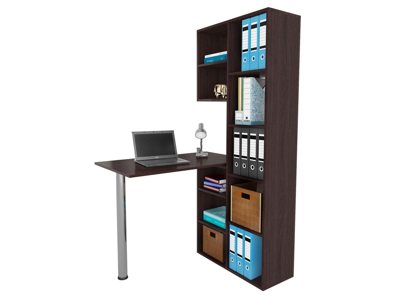 Компьютерный стол в комплекте МФ Мастер Рикс-2+Рикс-6 110x97,8x171,6, венге/хром