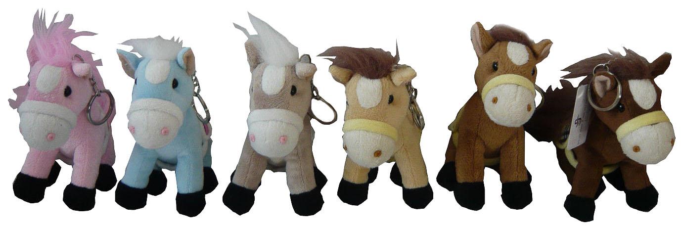 Купить Мягкий брелок Snowmen лошадка брелок 13см 6в., Аксессуары для ранцев и рюкзаков