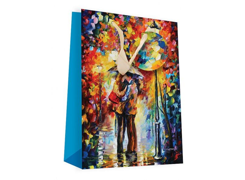 Пакет подарочный Белоснежка Поцелуй под дождем фото