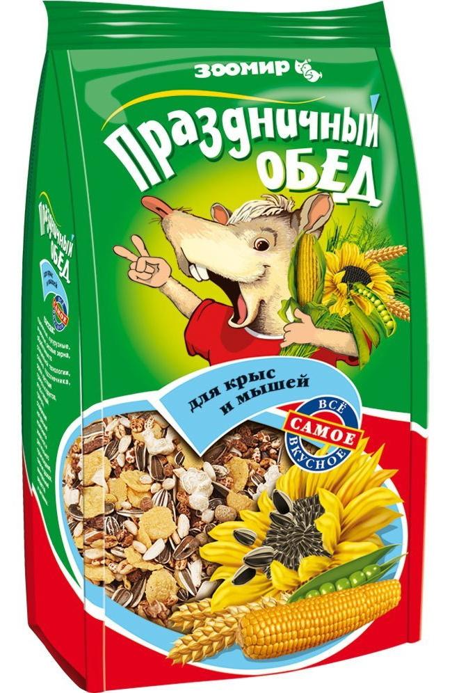 Корм Зоомир Праздничный Обед для декоративных мышей и крыс 250 г (250 г, )