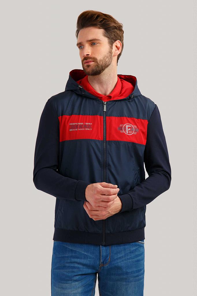 Куртка мужская Finn Flare B19-22024 синяя L, B19-22024